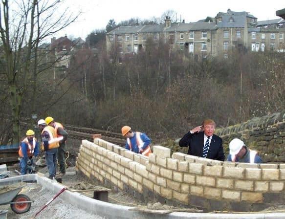 Donald Trump Has Wall Built Around Him