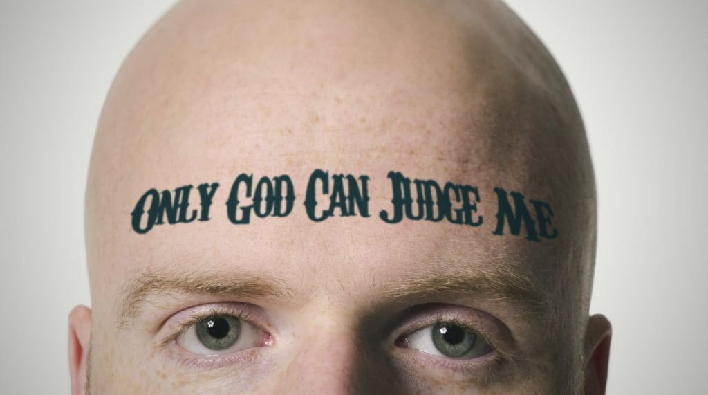 "Judge Has No Choice, Lets Murder Suspect With ""Only God Can Judge Me"" Tattoo Walk"