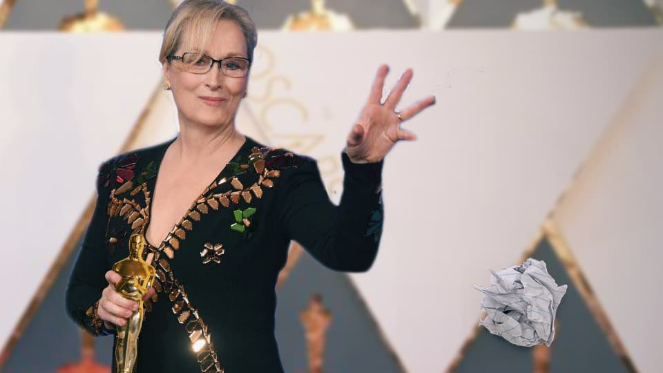Meryl Streep Seen Throwing Away Plans For House Made Entirely Of Oscar Statues