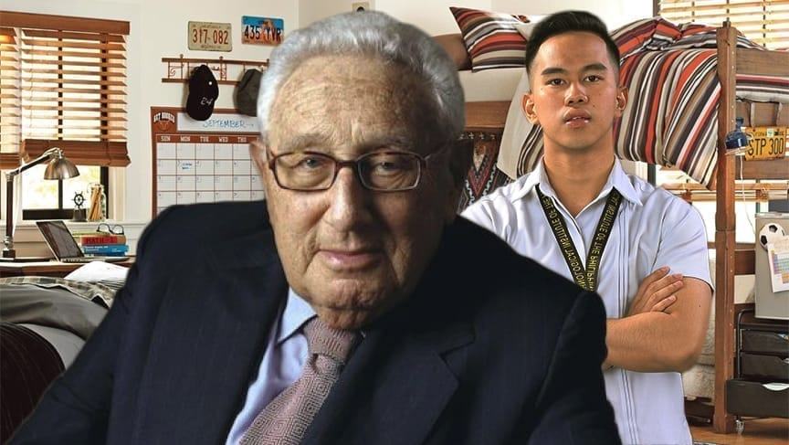 Man Desperately Searching For Life Lesson That Will End Body Swap With Henry Kissinger