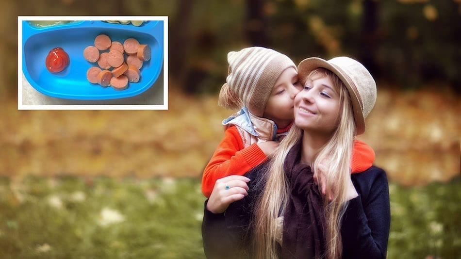 Mother Loves Son Enough To Cut Up Hot Dog, Not Enough To Buy Healthier Food