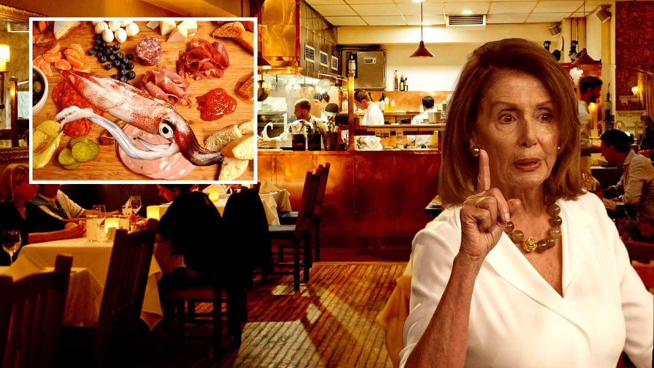 Pelosi Urges Caution In Removing Writhing Squid Meat From Charcuterie Spread