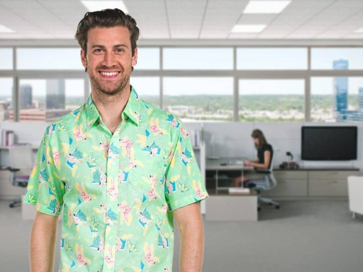 New Guy At Work Already Wearing Hawaiian Shirt After Third Day