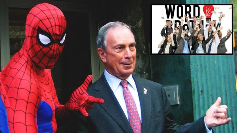 Word Brothel Endorses Michael Bloomberg! Unrelated, Bloomberg Pumps Word Brothel With Huge Cash Injection