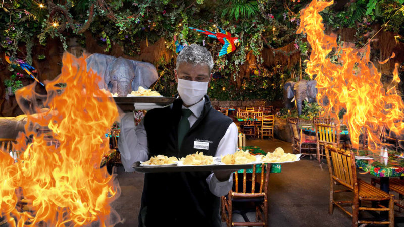 Kitchen Fire Adds Extra Authenticity To Rainforest Cafe