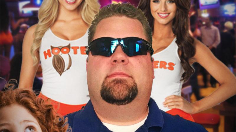 Dad Wears Formal Oakleys To Hooters Fundraiser