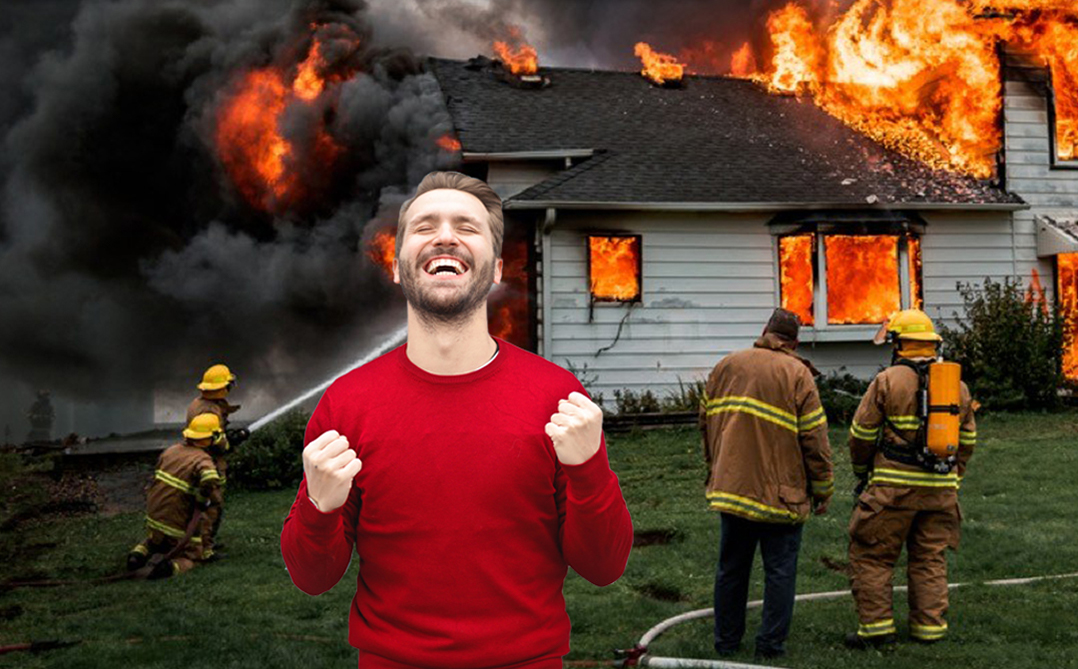 Tragic House Fire Saves Man From Zoom NYE Countdown