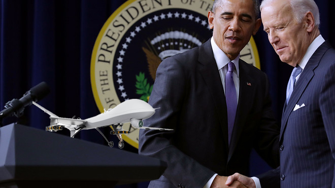 Obama Already Asking Biden If He Can Play With His Drones