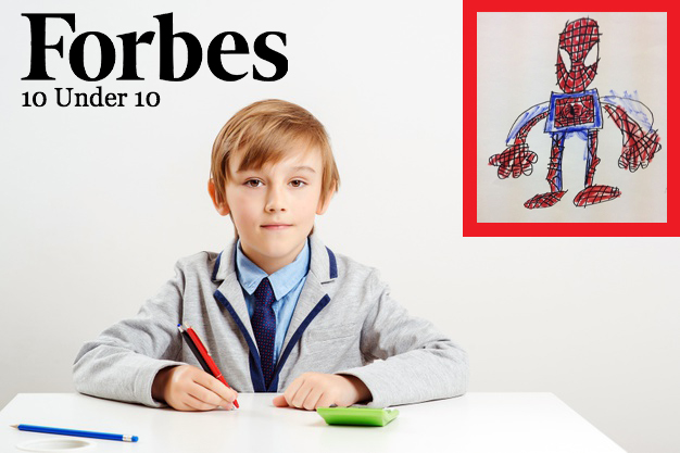 Kid Hawking Hand-Drawn Marvel Characters In Home Room Makes Forbes 10 Under 10 List