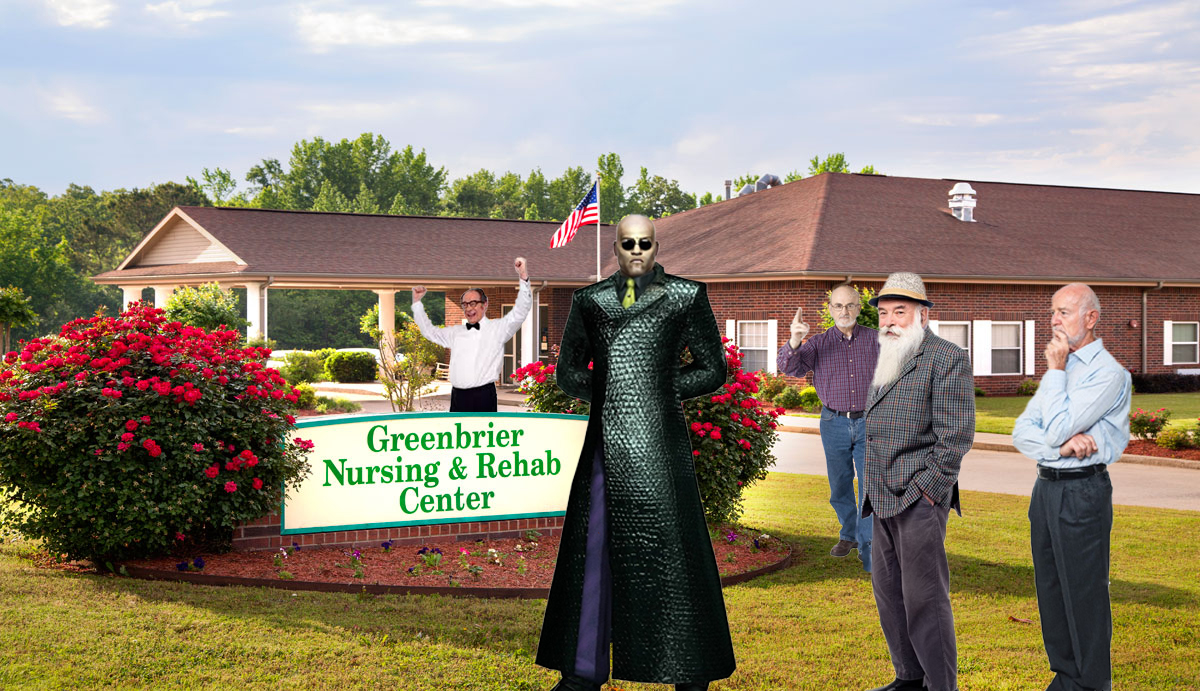 Down & Out Morpheus Busted Selling Surplus Blue Pills Outside Nursing Home