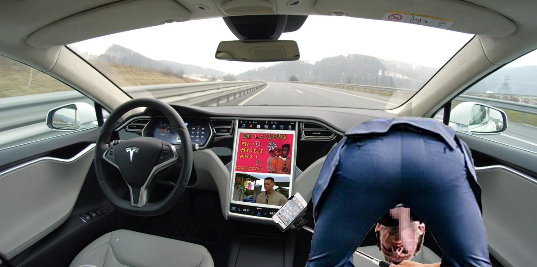 Song Of Myself: Local Man Self Sucks In Self Driving Car While De La Soul's 'Me Myself And I' Plays Over Jim Carrey's 'Me, Myself & Irene'
